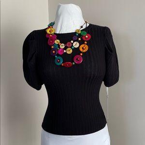 Iris Basic Ribbed Knit Top